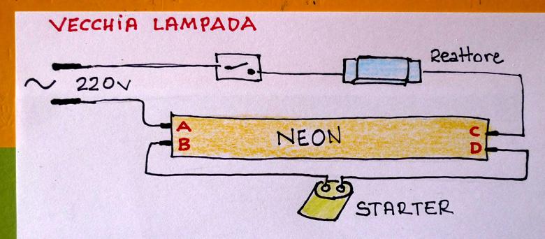 Schema Collegamento Neon Circolare : Dubbio sostituzione tubo neon con led elettricista